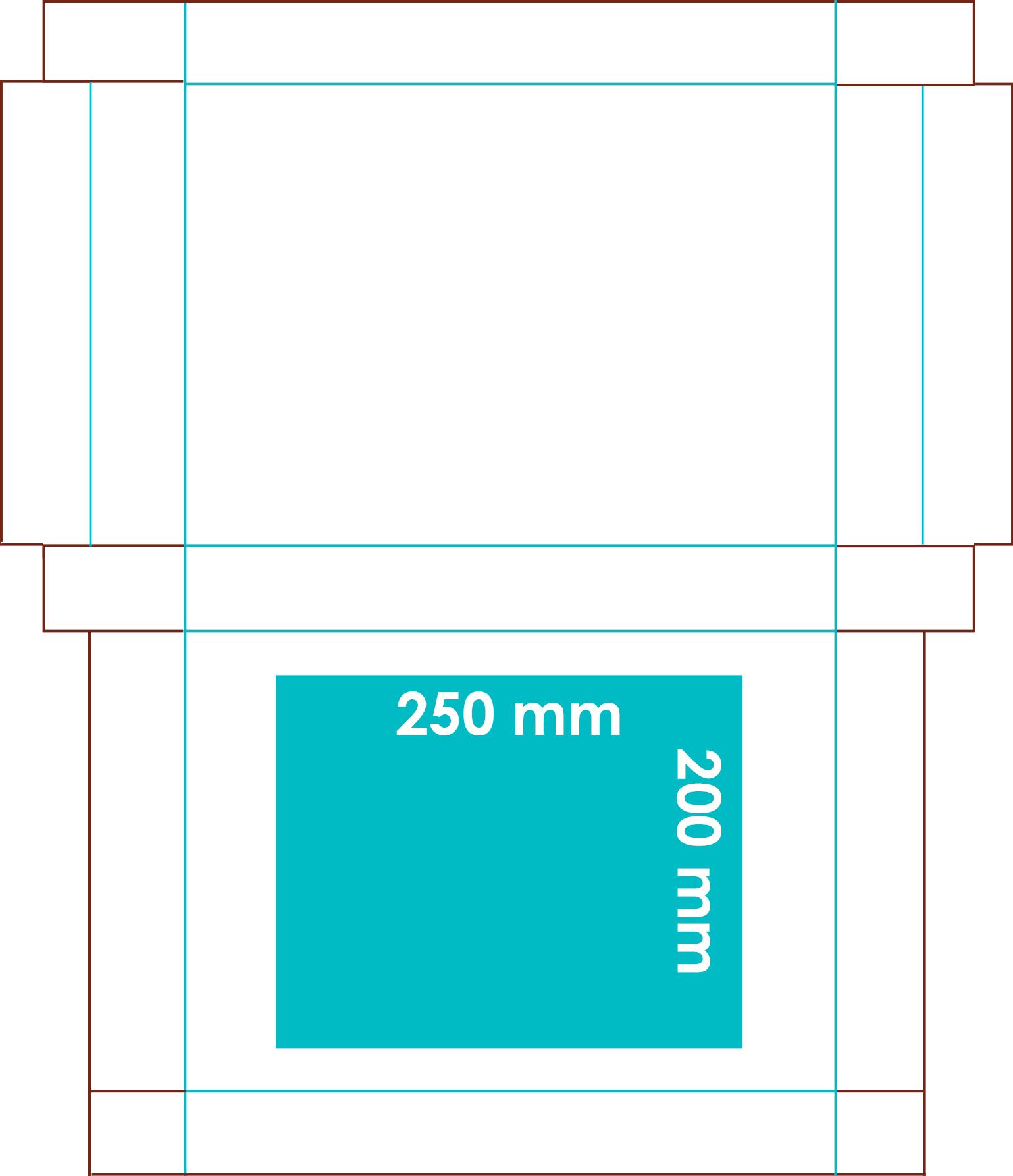 Grafische Darstellung der Druckfläche